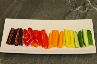 מקלוני ירקות צבעוניים